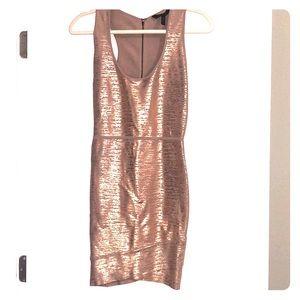 Metallic fitted BCBG dress